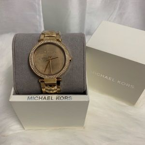 Michael Kors Stainless Steel Gold Crystal Watch